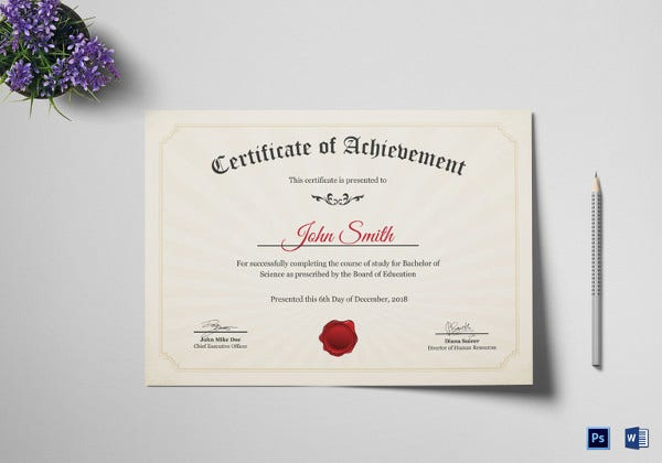 graduation degree certificate template