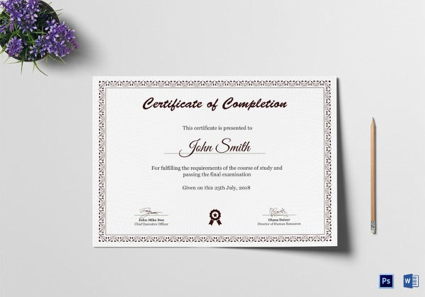 18 graduation certificate templates word pdf documents download graduation diploma completion certificate template yadclub Choice Image