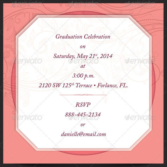 High Quality Graduation Reunion Invitation Card Template Illustraion For Invitation Card Formats