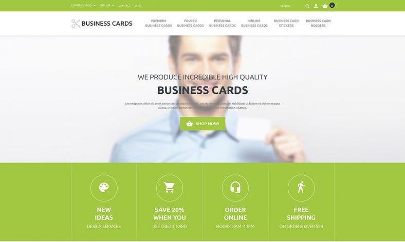 Green & Responsive Business Responsive Template
