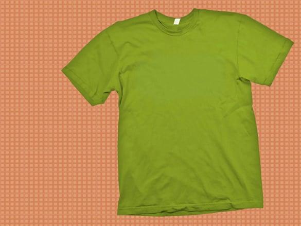 green t shirt template psd