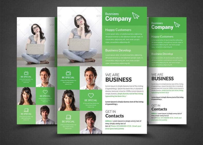 greenish amazing free business flyer template1 788x563
