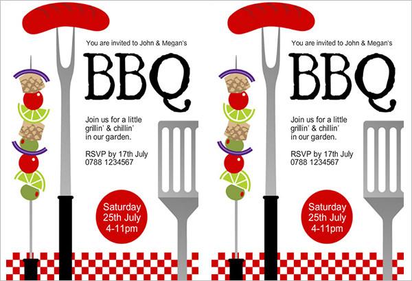 grillin and chillin bbq invitaion