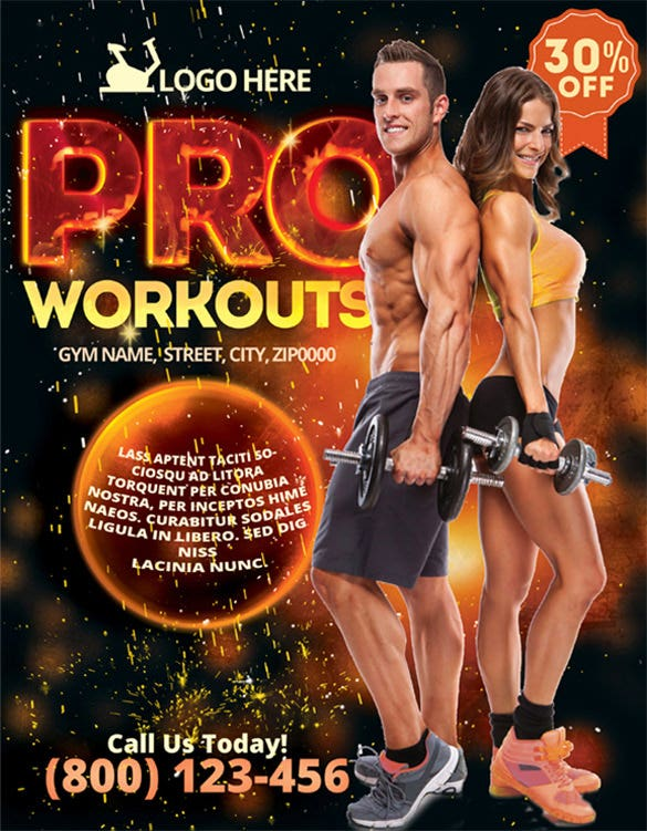 gym flyer template dowmload