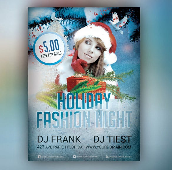 holiday fashion photoshop flyer 6