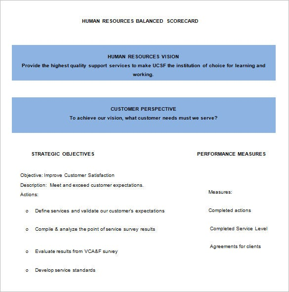 13 balanced scorecard templates pdf doc xls free premium hr balanced scorecard format download maxwellsz