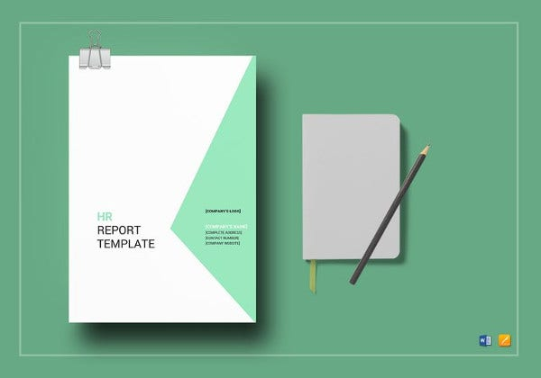 hr report template in word
