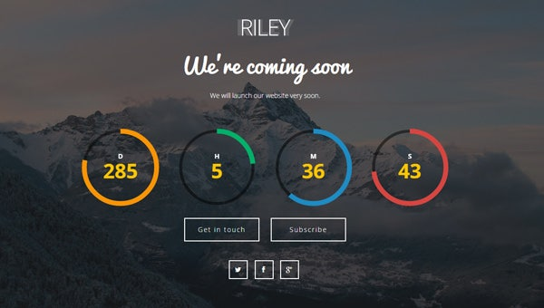 html coming soon page