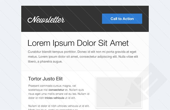 html newsletter email template