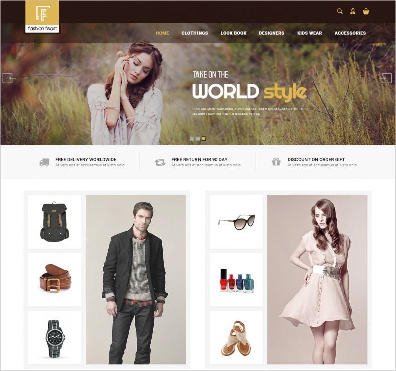 HTML5 & CSS Magento Responsive Theme