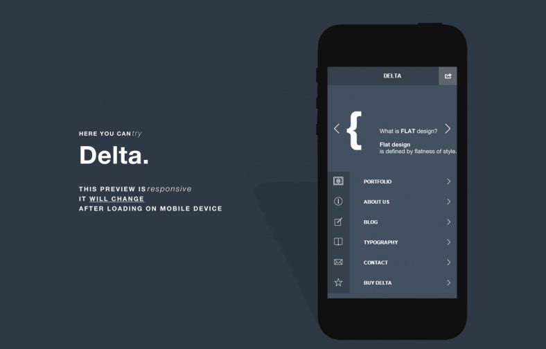 Flat Design Mobile Website Templates & Themes | Free & Premium ...