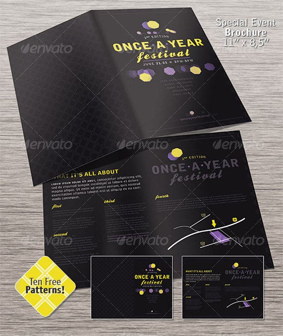 party brochure template - 23 event brochure templates psd designs free