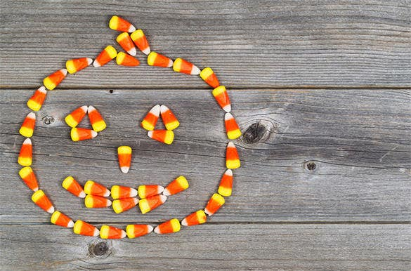 halloween candy corn on wood template