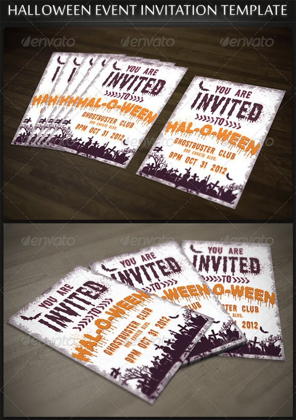 Halloween Event Party Invitation Template  Free Event Invitation Templates