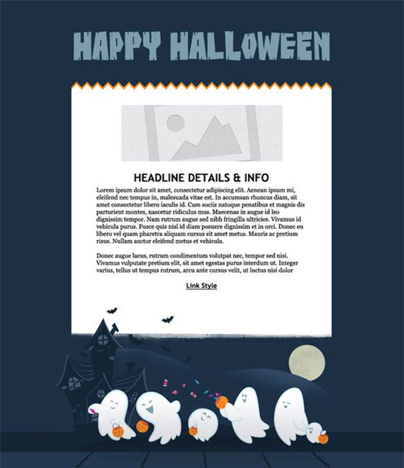 halloween holiday email templates