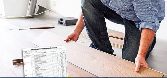 hammerpoint home repair work estimate template