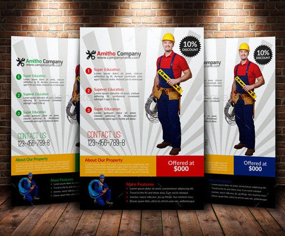 18  best handyman flyer templates  u0026 designs