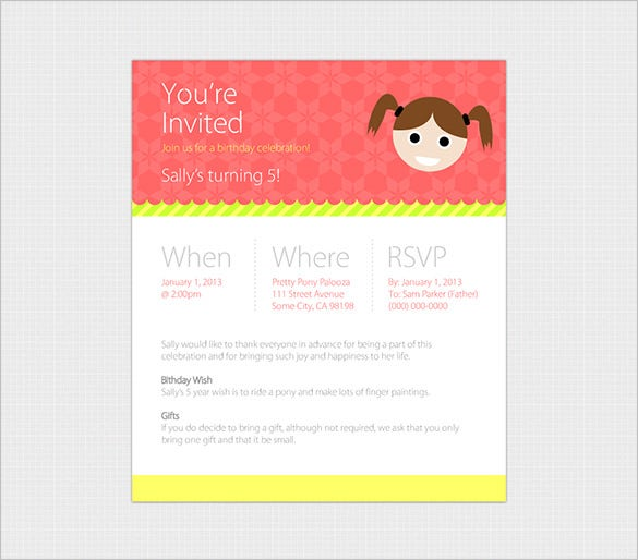 Happy Birthday Email Templates HTML PSD Templates Download - Email to friend for birthday invitation