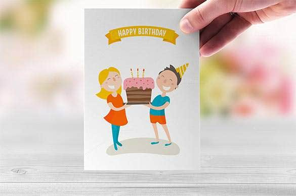 happy birthday flat illustration design