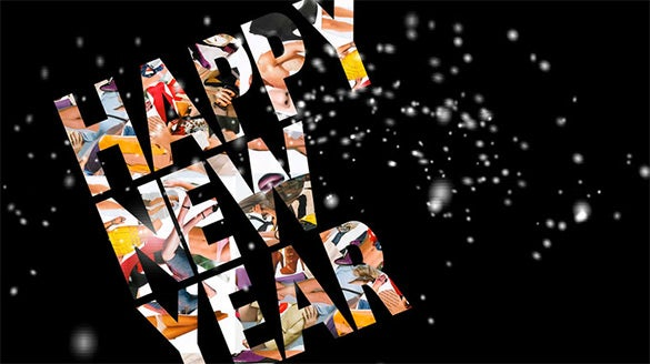 happy new year flash card template 7