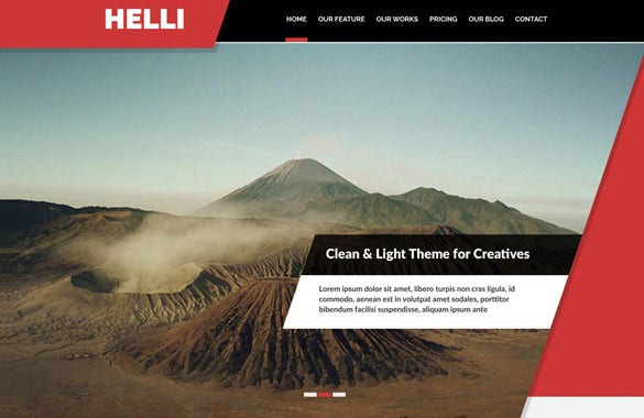 helli onepage psd template 7