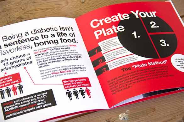 helpful diabetes brochure template