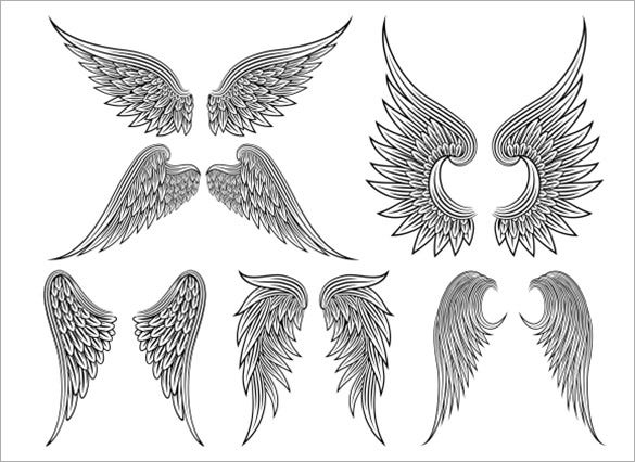 heraldic angel tattoo template 6