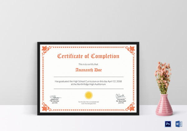 high-school-certificate-of-completion-template