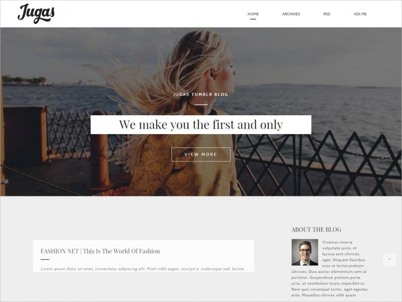 Highly Customizable Minimal Blog Templates
