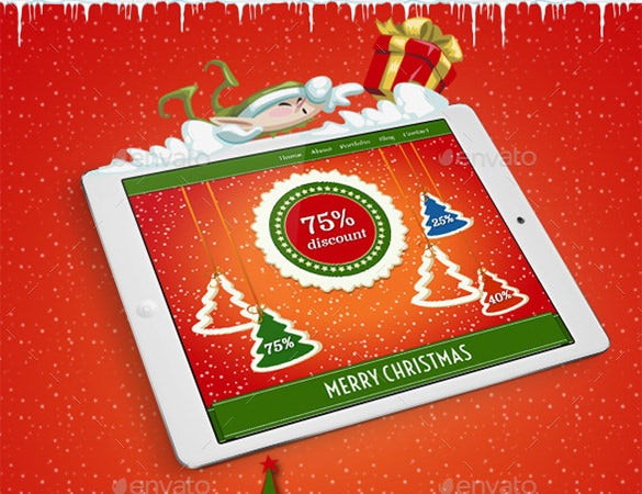 holiday business email template psd