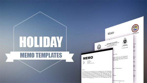 holiday memo templates