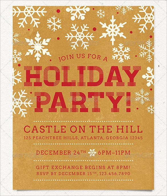 holiday party flyer templates free