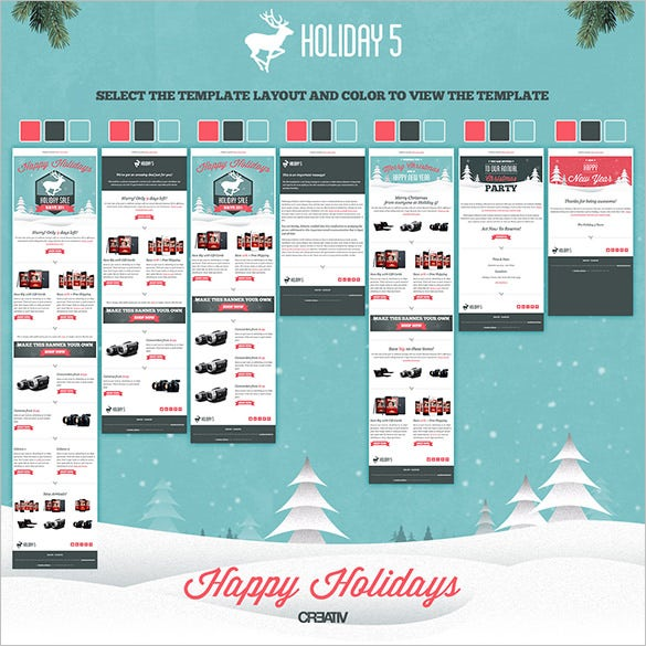 holiday responsive email template