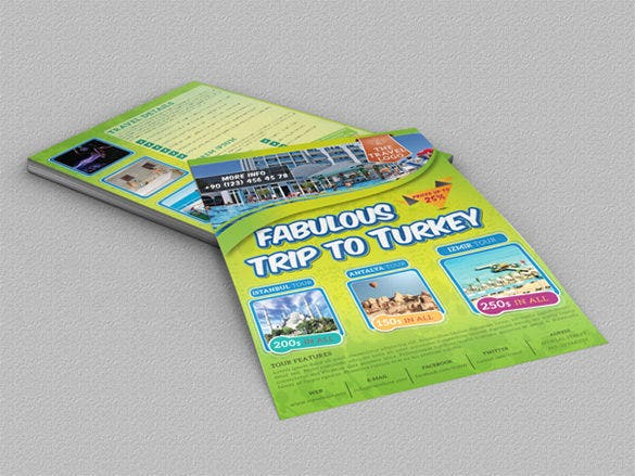 holiday travel flyer template free