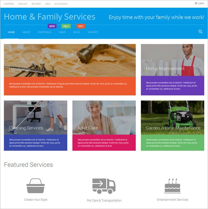 home repairs woocommerce theme