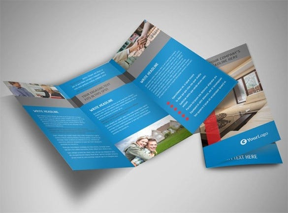 home for sale tri fold real estate brochure template