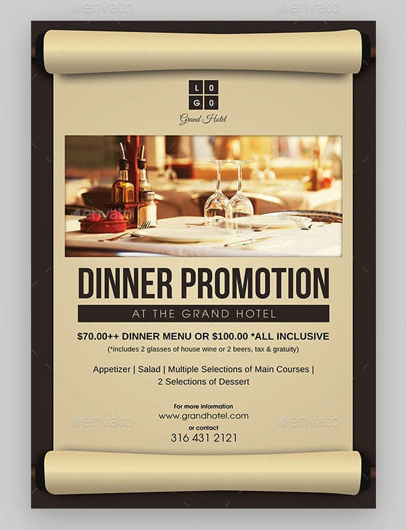 hotel restaurant dinner invitation template