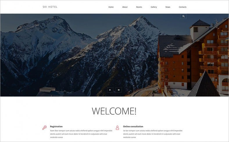 Hotels Responsive Joomla Blog Template