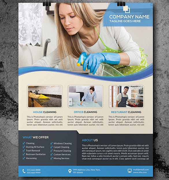 House Cleaning Flyer Template 17 PSD Format Download Free