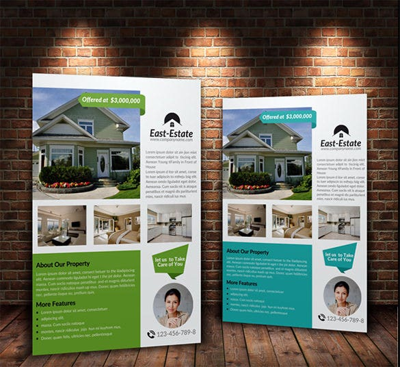 house for sale flyer in 3 colors
