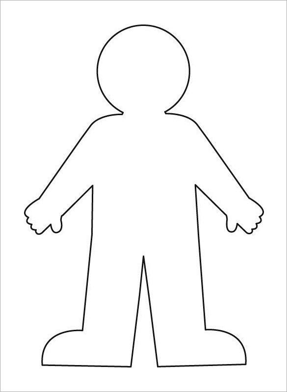 Human Body Outline For Kids Template Free Download