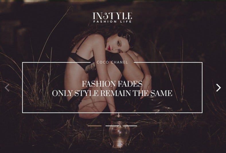 instyle fashion psd template 788x534