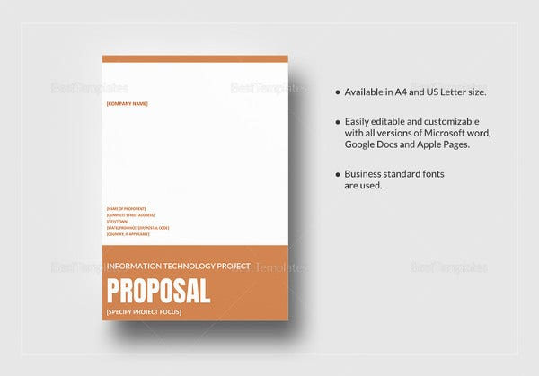 Project Proposal Templates 15 Free Sample Example Format – Example of Project Proposal Used