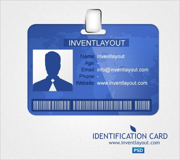 17 id card templates free psd documents download free for Id badge template free