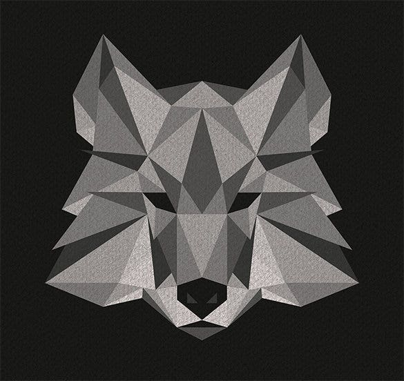 illustration of geometric wolf