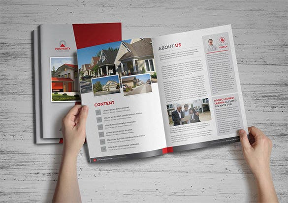 Real Estate Brochures Free PSD EPS Word PDF InDesign - Property brochure template
