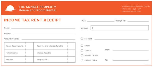 income-tax-rent-receipt-template