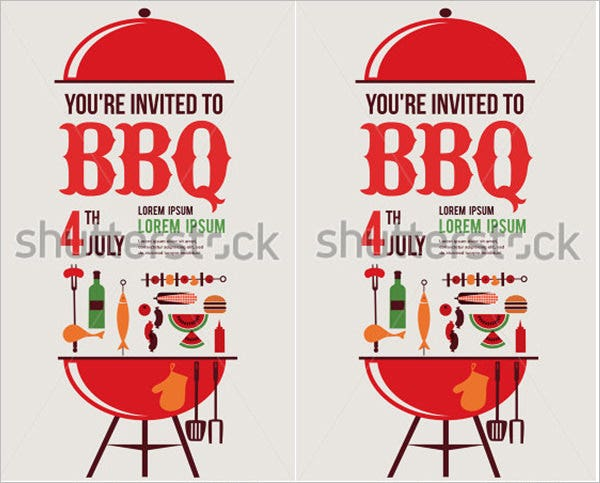 independence day of america card or invitation template