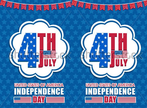 independence memorial day flyer template