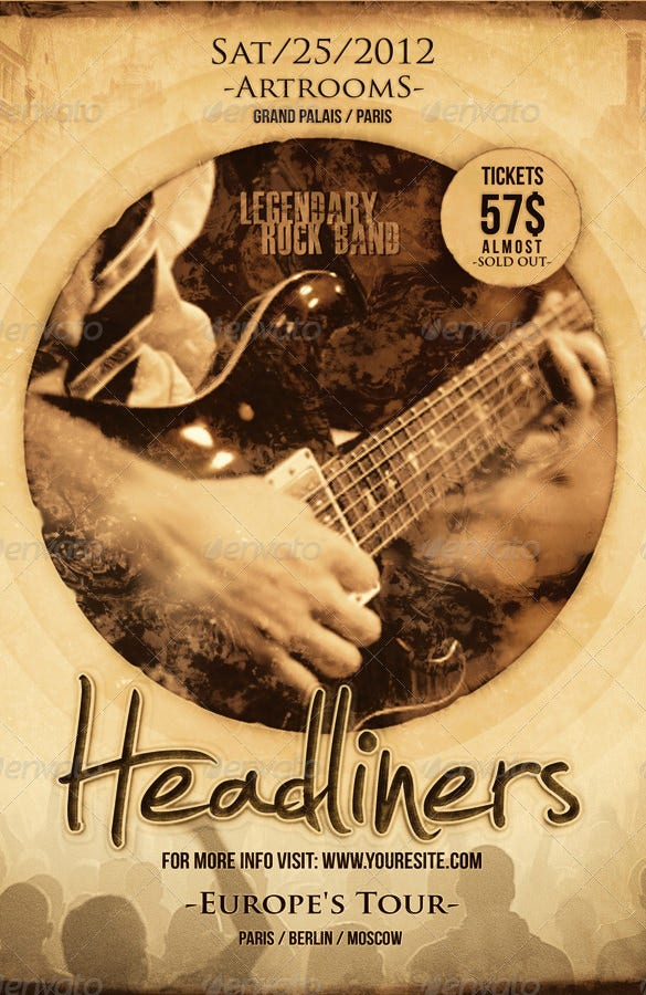 Band Flyer Templates Photoshop Dolapgnetband